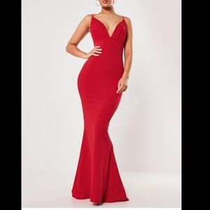 Beautiful red gown dress for a special event